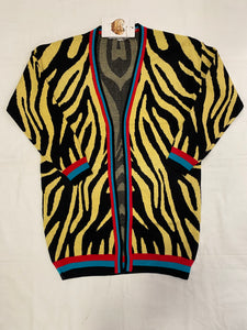 Cardigan fantasia Animalier giallo