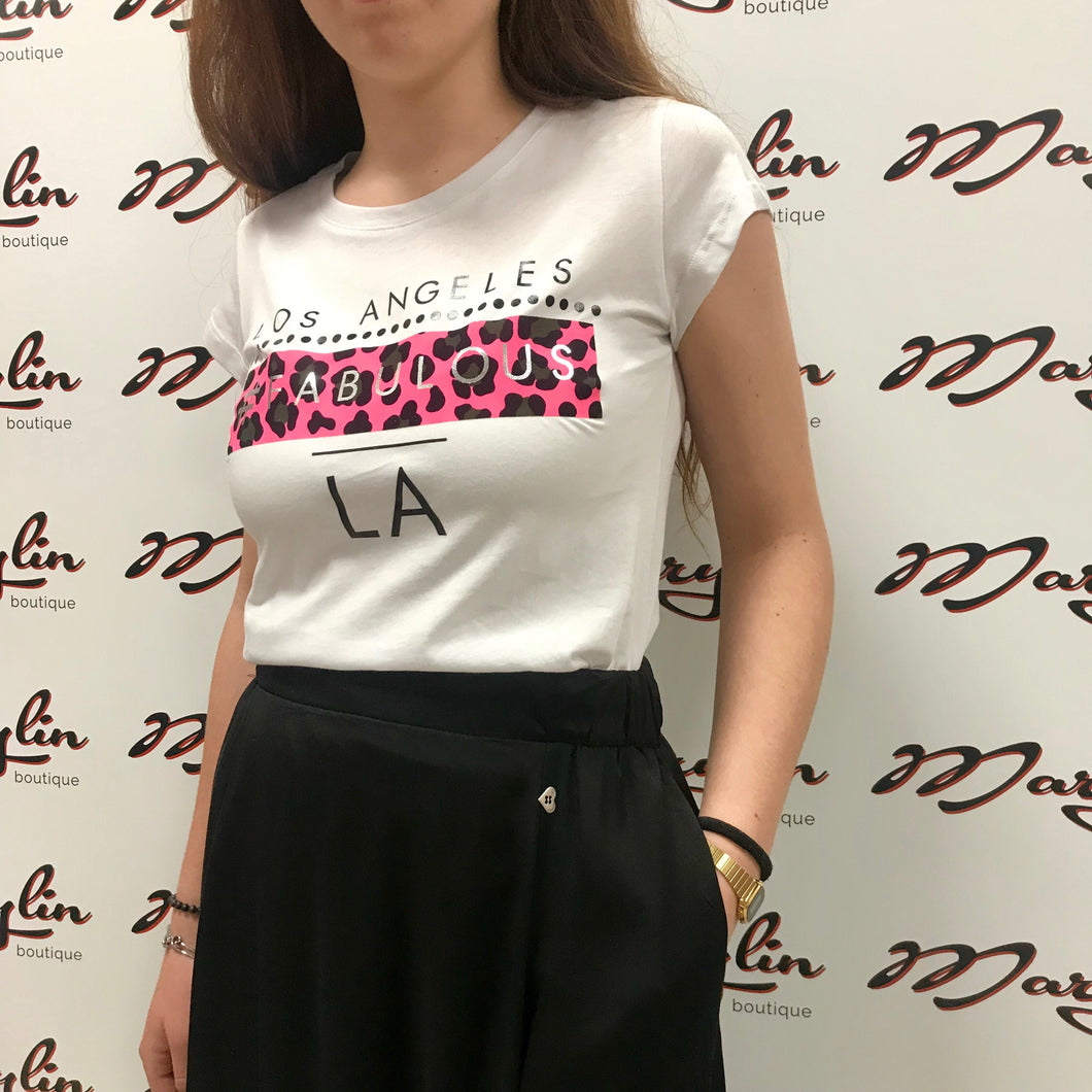 T-Shirt con stampa animalier