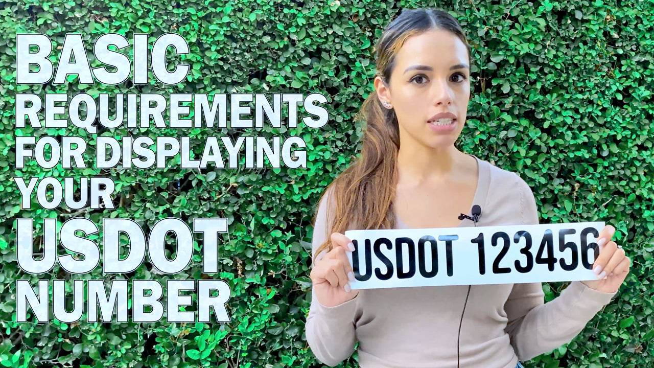 basic requirements for displaying your usdot number