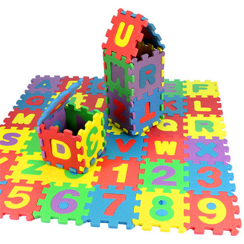1 set 36Pcs Baby Child Number Alphabet Puzzle Foam Maths Educational Toy Gift livingroom bedroom kids playing foam mat toy 2016