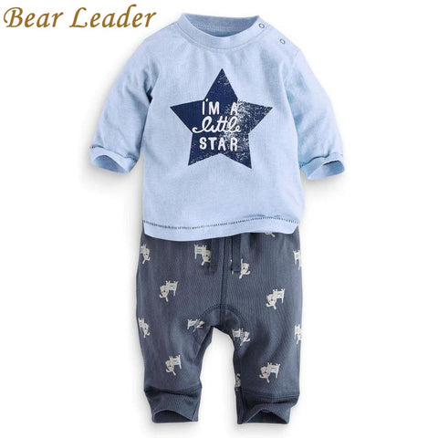Bear Leader Clothing sets 2017Fashion New style baby boys clothes Cotton boy letter star long sleeve suits children clothing