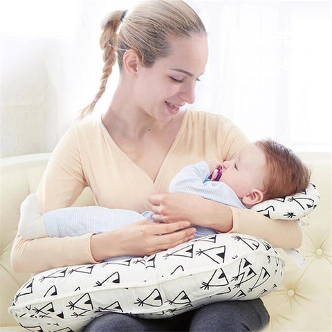 2pcs Newborn Baby Nursing Pillows U-shaped Maternity Breastfeeding Cushion Cotton Feeding Waist Cushion for Nursing