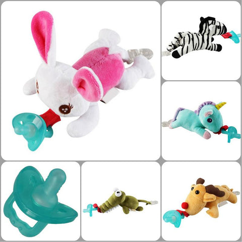 Baby's Hanging Type Animal Shaped Plush Appease Toy Comfort Toy With Clip Without Removable Pacifier
