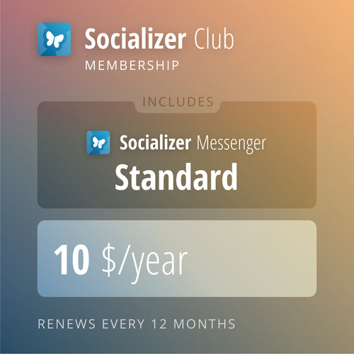 Socializer Club for 12 Months