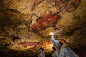 Paleolithic cave paintings of Altamira in Northern Spain