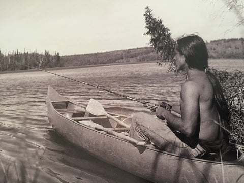 Young Abraham Anghik Ruben in Canoe