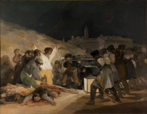 The Third of May 1808 by Spanish painter Francisco Goya