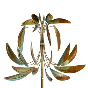 fleur de lis wind sculpture white background
