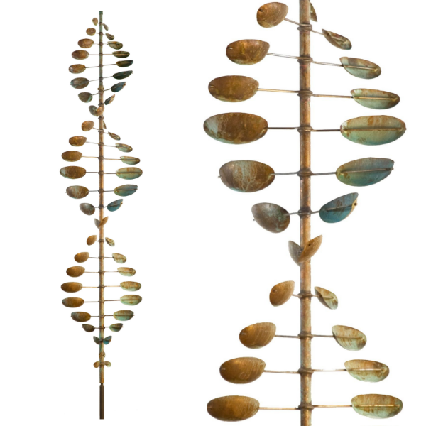Wind Sculpture Bean Pole Kinetic Art