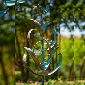 Desert Lily Wind Sculpture by Lyman Whitaker | Steffich Fine Art