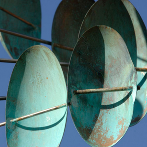 Double Helix Vertical | Wind Sculpture by Lyman Whitaker | Steffich Fine Art