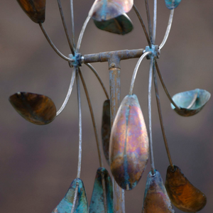 Double Spinner | Wind Sculpture by Lyman Whitaker | Steffich Fine Art