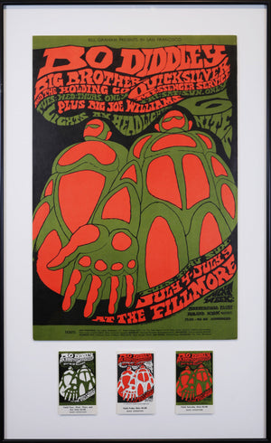 Vintage Poster: Bo Diddley – Big Brother and the Holding Company – Quicksilver messenger service