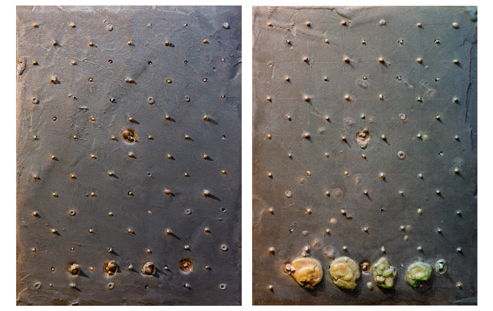 """Chasing Shadows Series I and II"" Diptych"