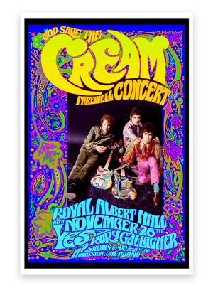 Cream Farewell Performance, Nov. 26, 1968 Royal Albert Hall – Commemorative Poster