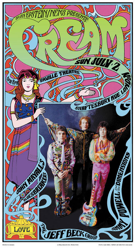 Cream – Saville Theatre, London, England, July 2, 1967 Commemorative poster