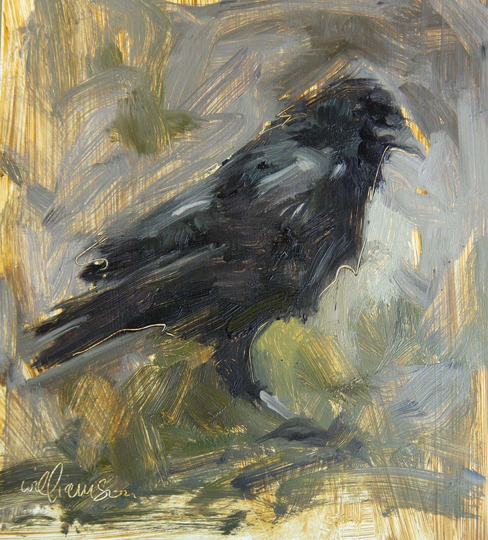 Determined (crow)