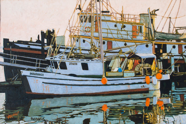 """Evening at the Wharf"" Oil Painting by Dan Varnals"