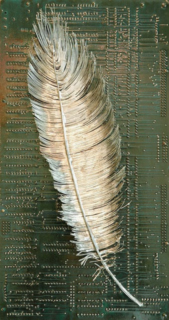 """Feather"" Circuit Board Sculpture"