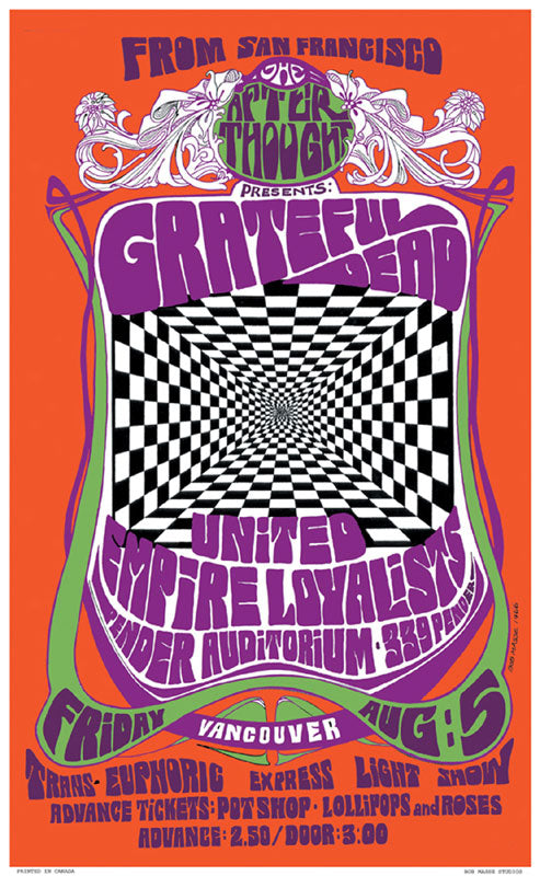 Grateful Dead – Friday Aug. 5, 1966 Pender Auditorium, Vancouver BC