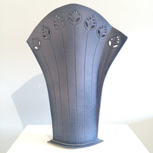 Lavender Fields Ceramic Vase by Judy Weeden Front View