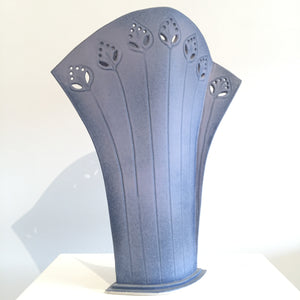 Lavender Fields Ceramic Vase by Judy Weeden Side View
