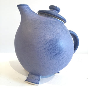 Purple Broody Hen Teapot by Judy Weeden Pottery Side View Left