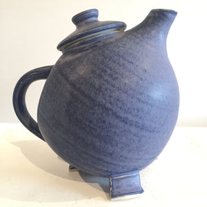 Purple Broody Hen Teapot by Judy Weeden Pottery Side View Right