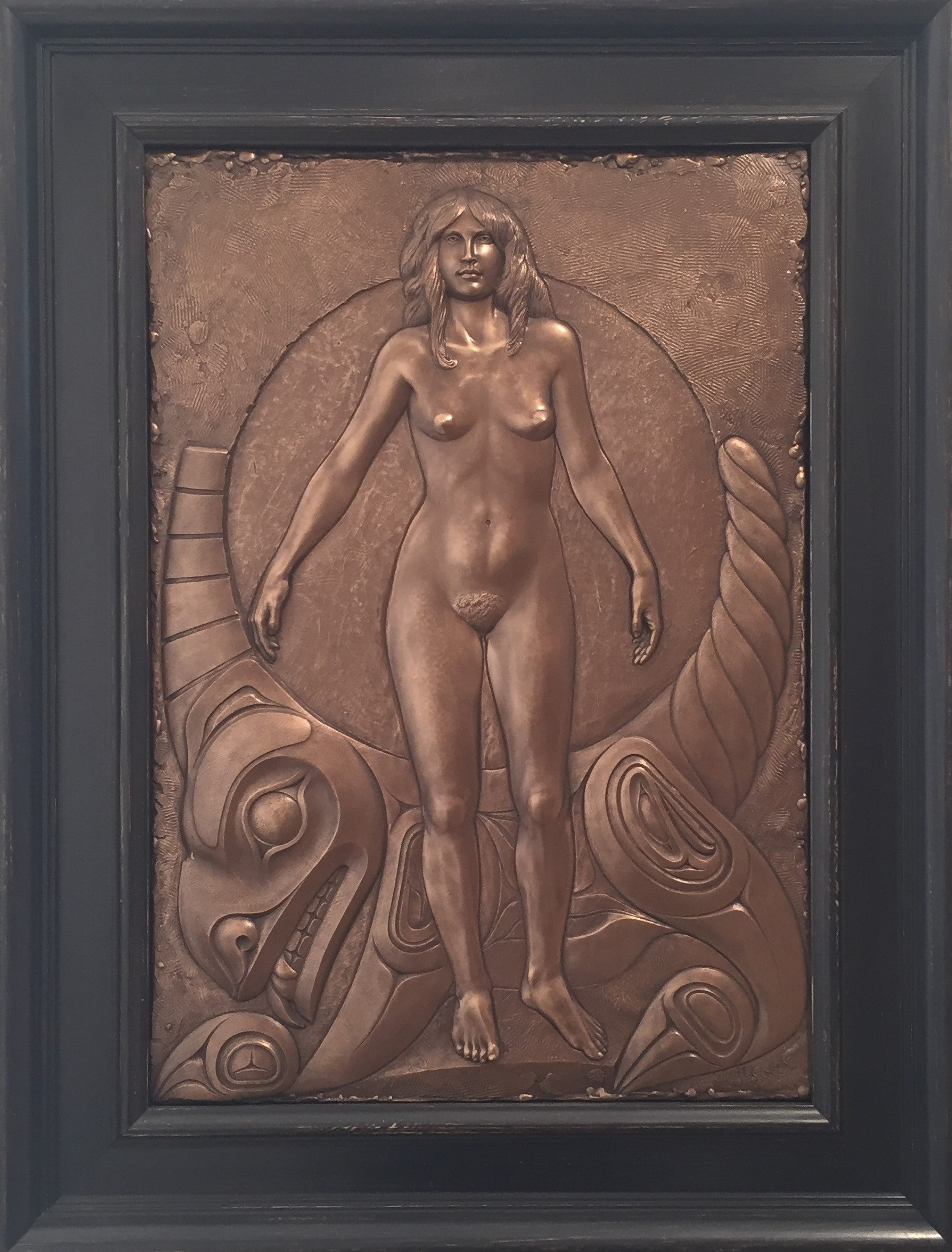 """Seawolf & Maiden"" Framed 