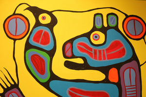"""Medicine Bear with Spiritual Helpers"" by Norval Morrisseau 