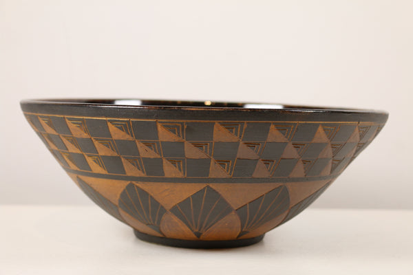 """Black & Terracotta Signature Bowl"""