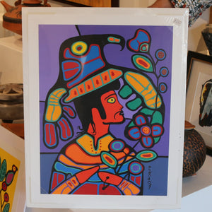 """Gabe"" Silk Screen Print by Norval Morrisseau 