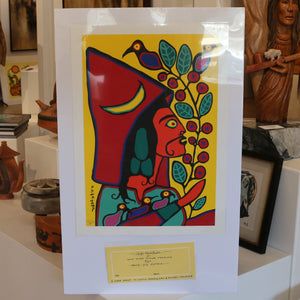"""Self Portrait"" Close Up Silk Screen Print by Norval Morrisseau 