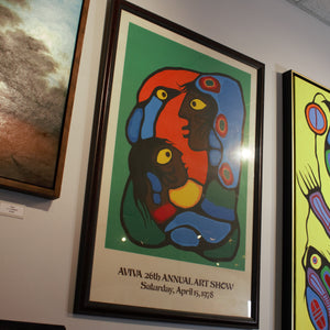 """Mother and Child"" Silk Screen Print by Norval Morrisseau - lower angle 