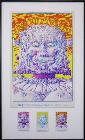 Vintage Poster: Iron Butterfly – James Cotton Blues Band – A.B. Skhy