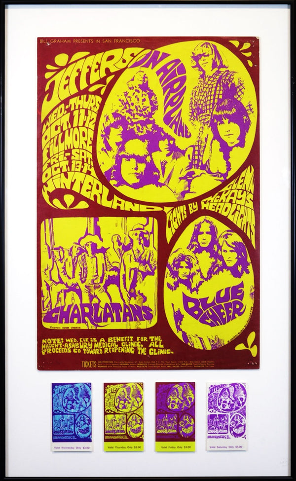 Vintage Poster: Jefferson Airplane – Blue Cheer – Charlatans