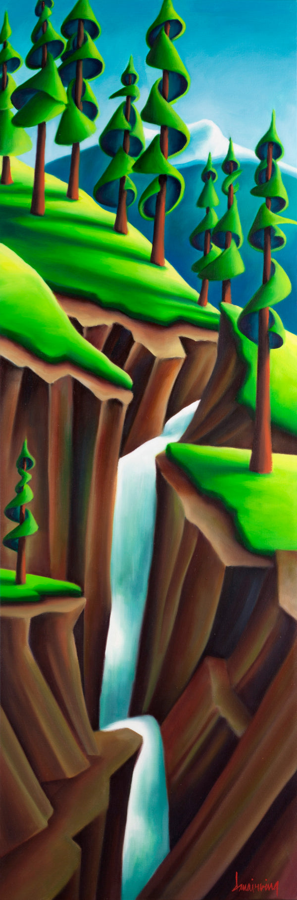 """Maligne Canyon"" Oil on Canvas by Dana Irving 