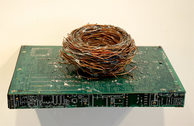 """Nest"" Circuit Board Sculpture"