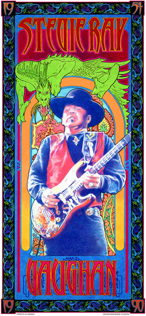 Stevie Ray Vaughan – Commemorative poster