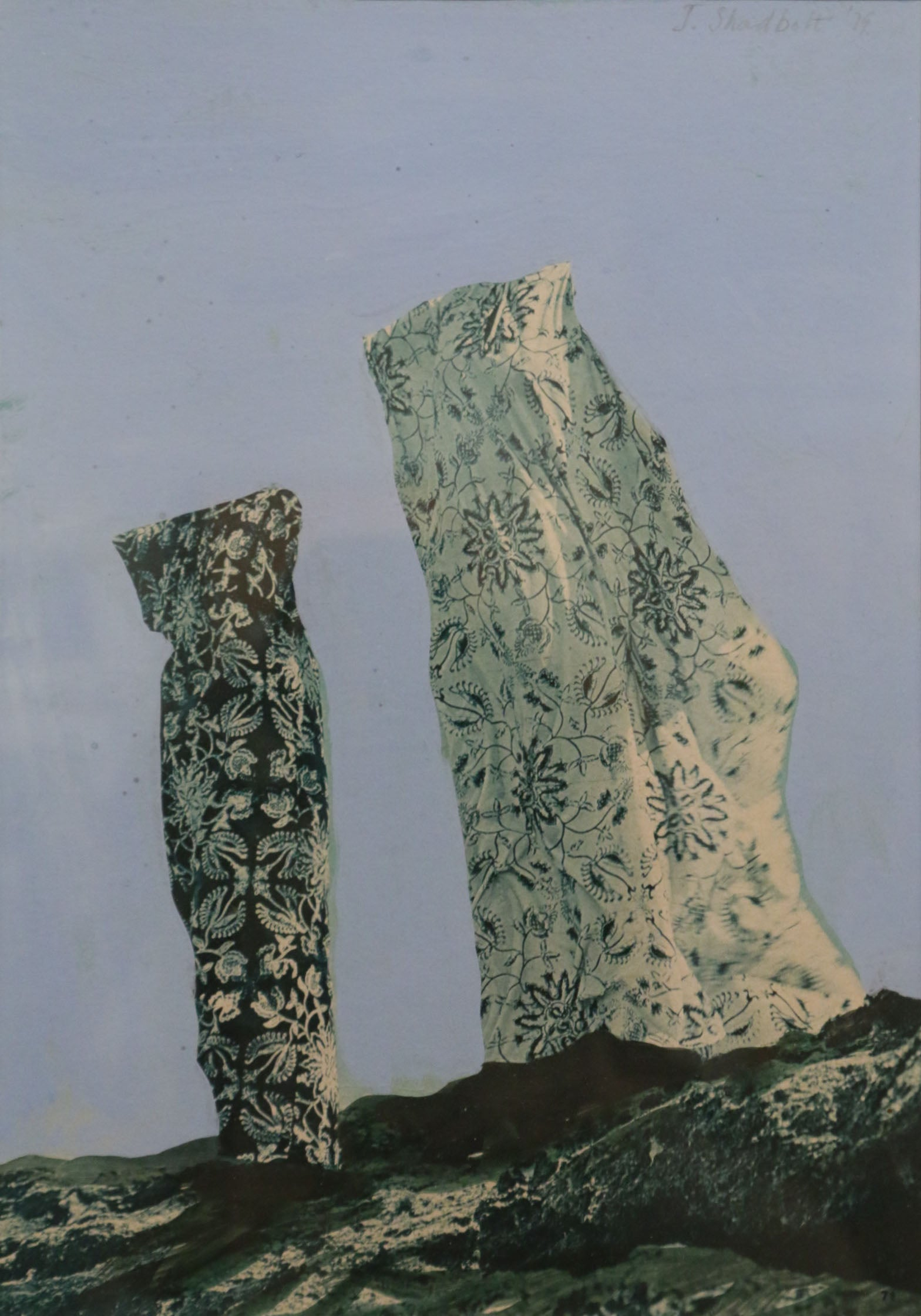 Summer Megaliths, collage Jack Shadbolt