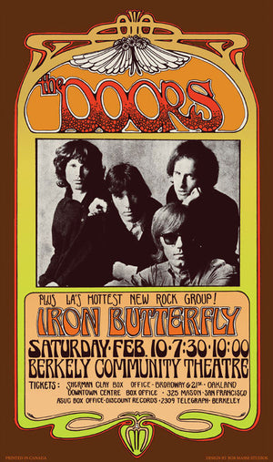 The Doors February 10, 1968, Berkeley Community Theater