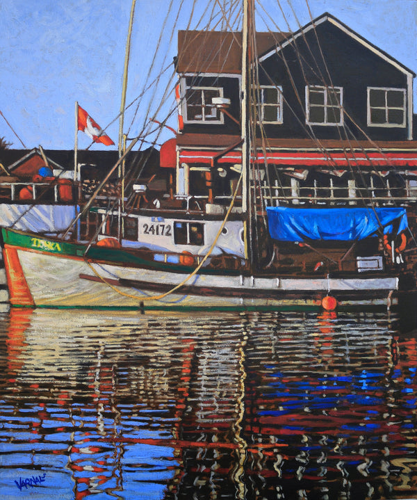 """Evening Reflection/Steveston Landing"""