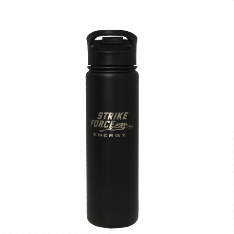 22oz (625ML) STRIKE FORCE (BLACK) Flask