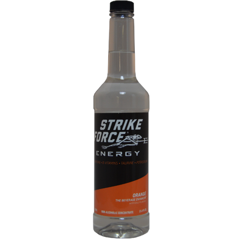 Strike Force Energy 750ml PUMP Bottle - ORANGE
