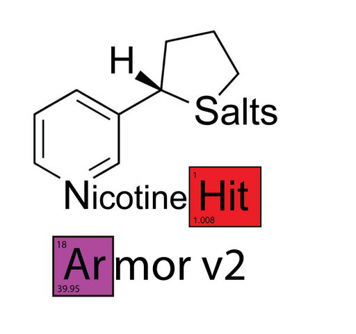 Nude Armor v2 Hit™ Nicotine Salts™ - 100mg/mL