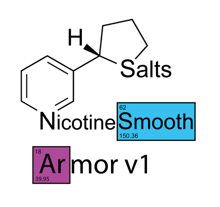 Nude Armor v1 Smooth™ Nicotine Salts™ - 48mg/mL