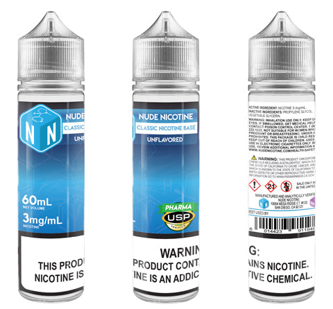 Unflavored Classic Nicotine Base 60mL