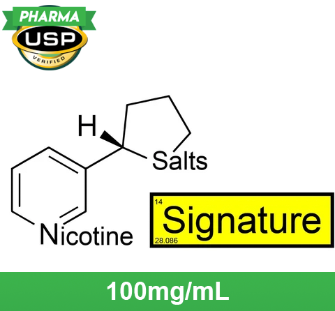 "❄ Nicotine Salts™ ""SIGNATURE™"" 100mg/mL ❄ USP Pharma"