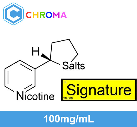 ❄ Signature™ Nicotine Salts™ - 100mg/mL ❄, USP Chroma
