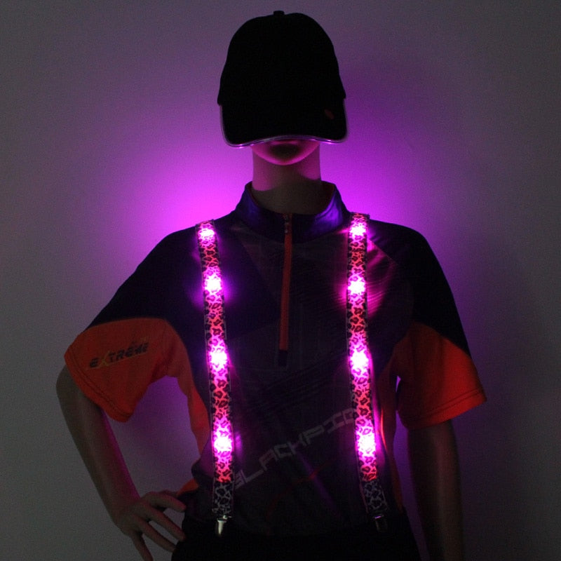 LED Light up Suspenders By PartyTime